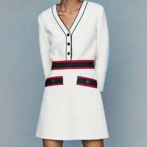 MAJE Rosine Tweed Colorblock Mini Dress FR 38 US 6